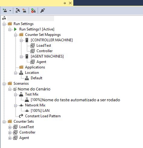 Print de um arquivo .loadtest do Visual Studio