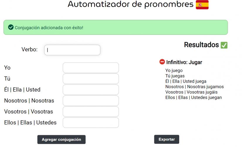 Um novo projeto pessoal: El Automatizador de Pronombres!